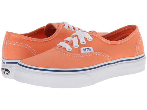 Vans Kids - Authentic (Little Kid/Big Kid) (Cantaloupe/True White) Girls Shoes