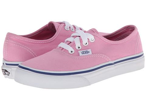 Vans Kids - Authentic (Little Kid/Big Kid) (Prism Pink/True White) Girls Shoes
