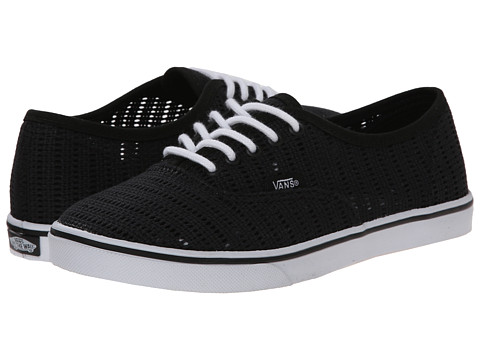 Vans - Authentic Lo Pro ((Mesh) Black) Skate Shoes