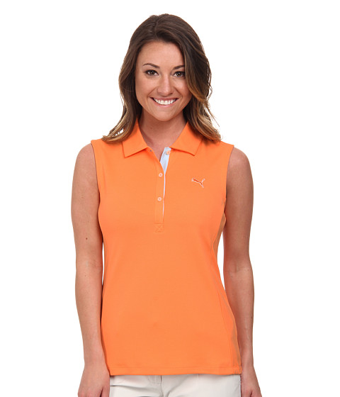 PUMA Golf - Golf Tech Sleeveless Polo '15 (Nectarine) Women's Sleeveless