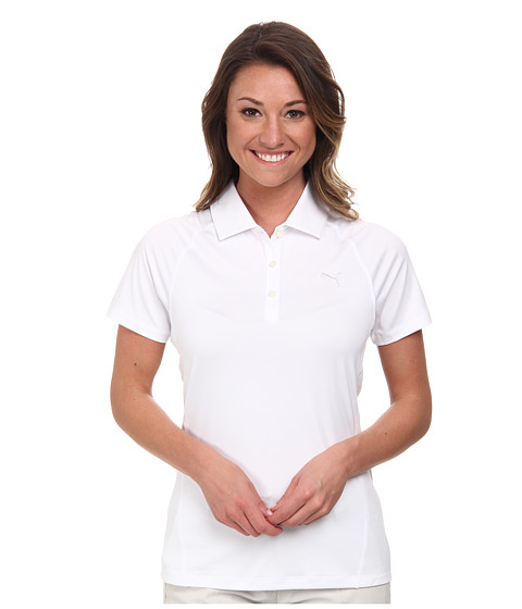 PUMA Golf - Tour Titan Polo (PUMA White) Women's Short Sleeve Knit