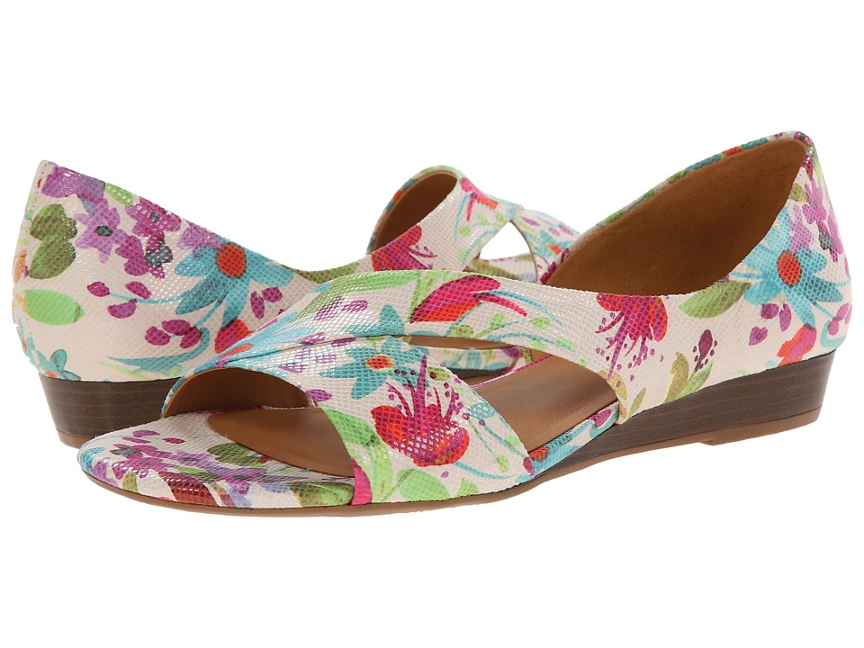 Naturalizer - Jazzy (Cream Floral Watercolor Printed Iguana) Women
