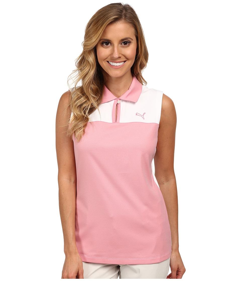 PUMA Golf - CB Sleeveless (Camellia Rose/White) Women's Sleeveless