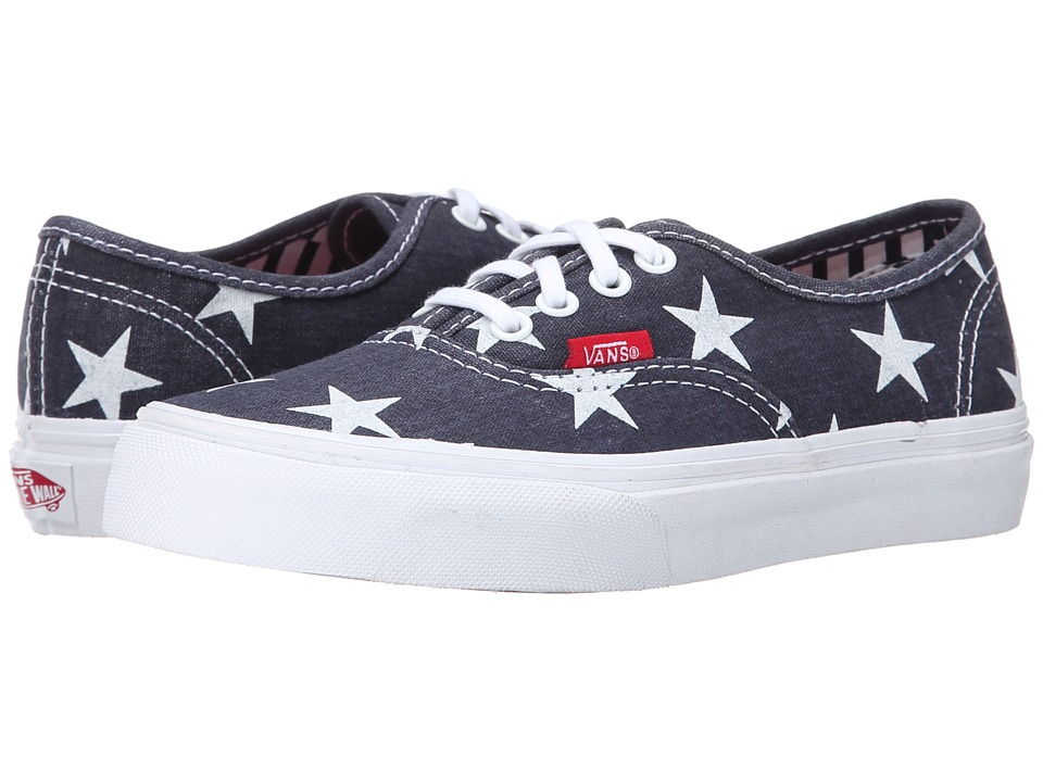 Vans Kids - Authentic (Little Kid/Big Kid) ((Stars & Stripes) True White) Girls Shoes