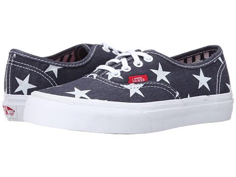 Vans Kids - Authentic (Little Kid/Big Kid) ((Stars & Stripes) True White) Girls Shoes