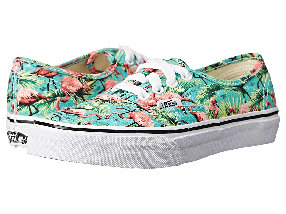 Vans Kids - Authentic (Little Kid/Big Kid) ((Flamingo) Turquoise/True White) Girls Shoes