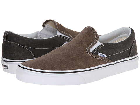 Vans - Classic Slip-On ((Washed 2 Tone) Black/Desert Palm) Skate Shoes
