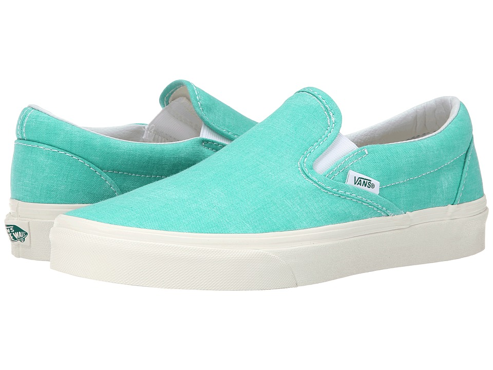 Vans - Classic Slip-On ((Washed) Pool Green) Skate Shoes