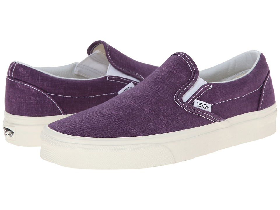 Vans - Classic Slip-On ((Washed) Plum Purple) Skate Shoes