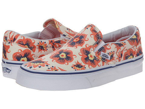 Vans - Classic Slip-On ((Vintage Floral) Burnt Coral) Skate Shoes
