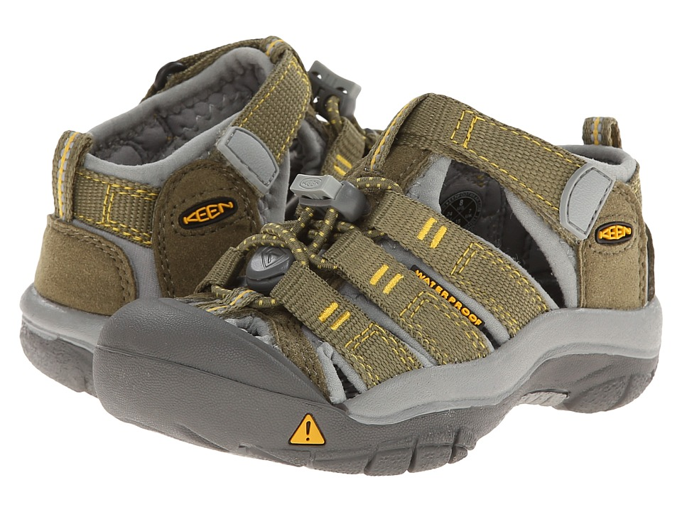 Keen Kids - Newport H2 (Toddler/Little Kid) (Burnt Olive/Yellow) Kids Shoes