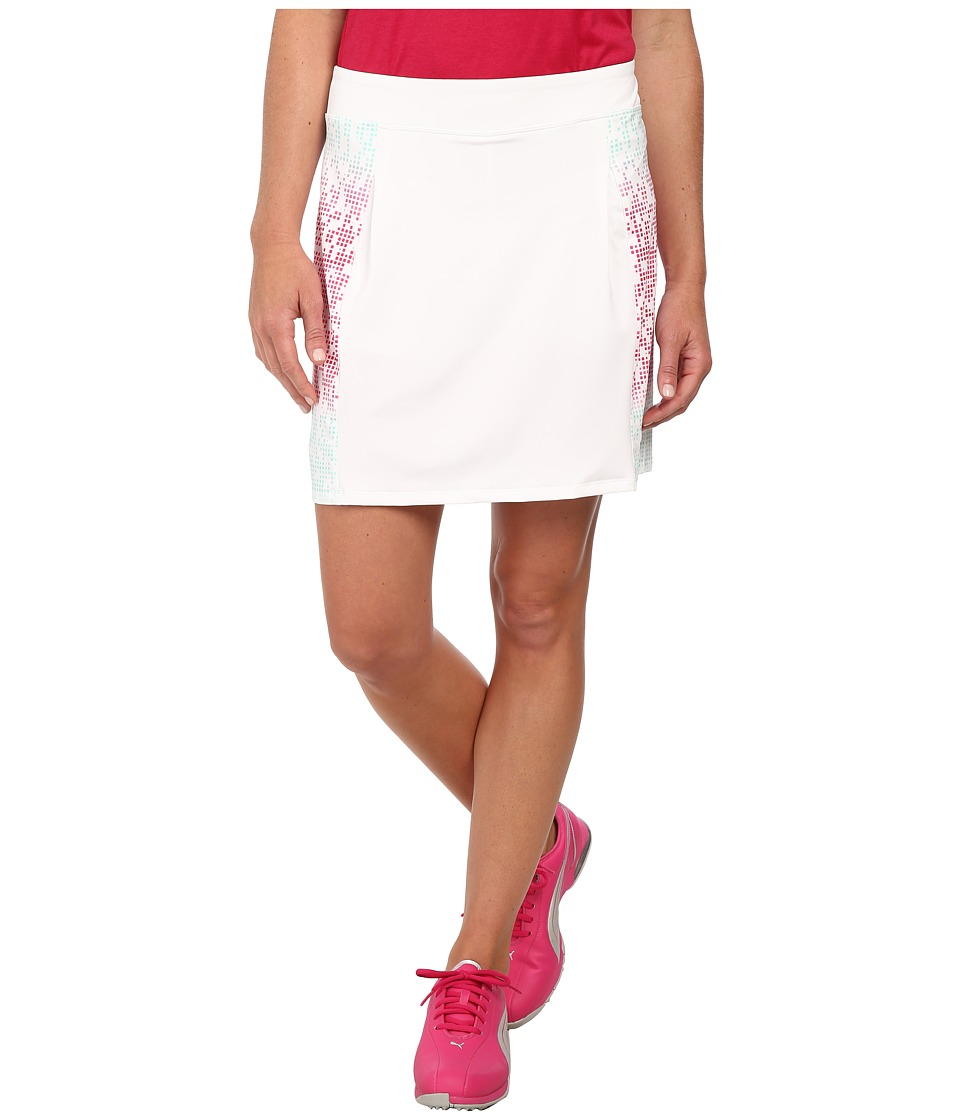PUMA Golf - Glitch Block Skort (Cabbage/White/Raspberry) Women's Skort