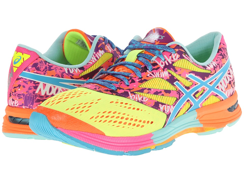 ASICS - GEL-Noosa Tritm 10 (Flash Yellow/Turquoise/Flash Pink) Women's Running Shoes