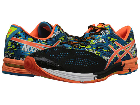 ASICS - Gel-Noosa Tri 10 (Black/Flash Orange/Flash Yellow) Men's Running Shoes