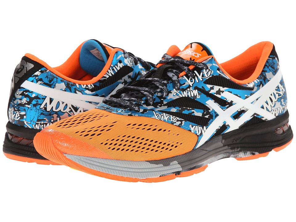 ASICS - Gel-Noosa Tri 10 (Onyx/White/Flash Orange) Men's Running Shoes