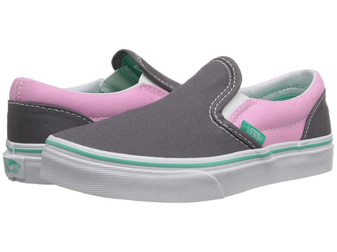 Vans Kids - Classic Slip-On (Little Kid/Big Kid) ((Pop) Rabbit/Prism Pink) Girls Shoes