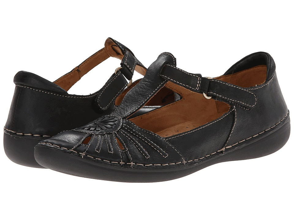 Naturalizer - Kelly (Black Leather) Women's Slip on Shoes