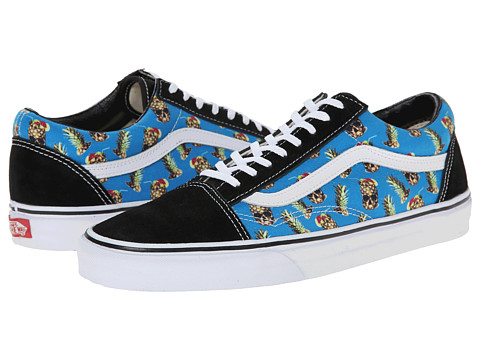 Vans - Old Skool ((Drained And Confused) Black/Blue) Skate Shoes