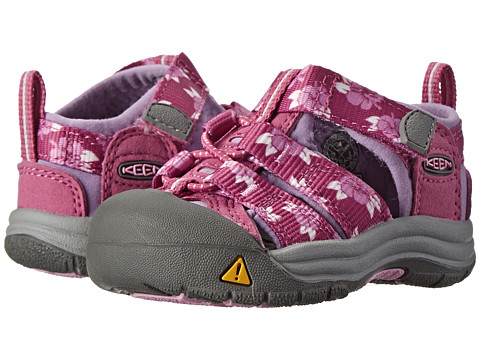 Keen Kids - Newport H2 (Toddler) (Dahlia Mauve Hibiscus Flower) Girls Shoes
