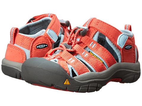 Keen Kids - Newport H2 (Little Kid/Big Kid) (Hot Coral/Corydalis Blue) Girls Shoes