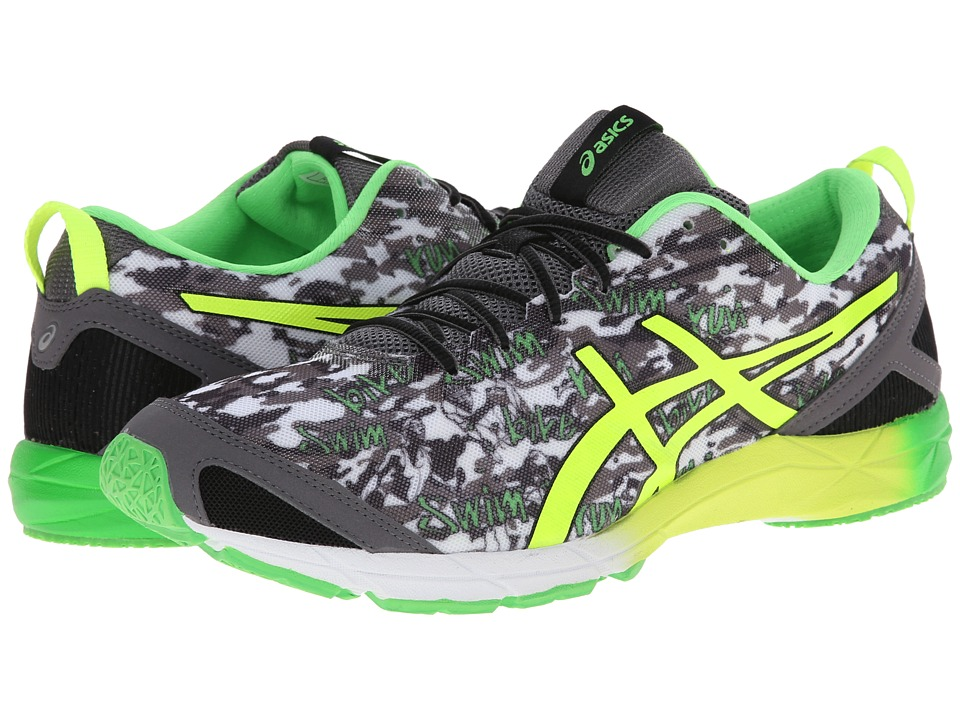 ASICS - GEL-Hyper Tri (Black/Flash Yellow/Flash Green) Men's Running Shoes