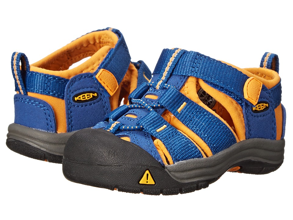 Keen Kids - Newport H2 (Toddler) (True Blue/Dark Cheddar) Boys Shoes