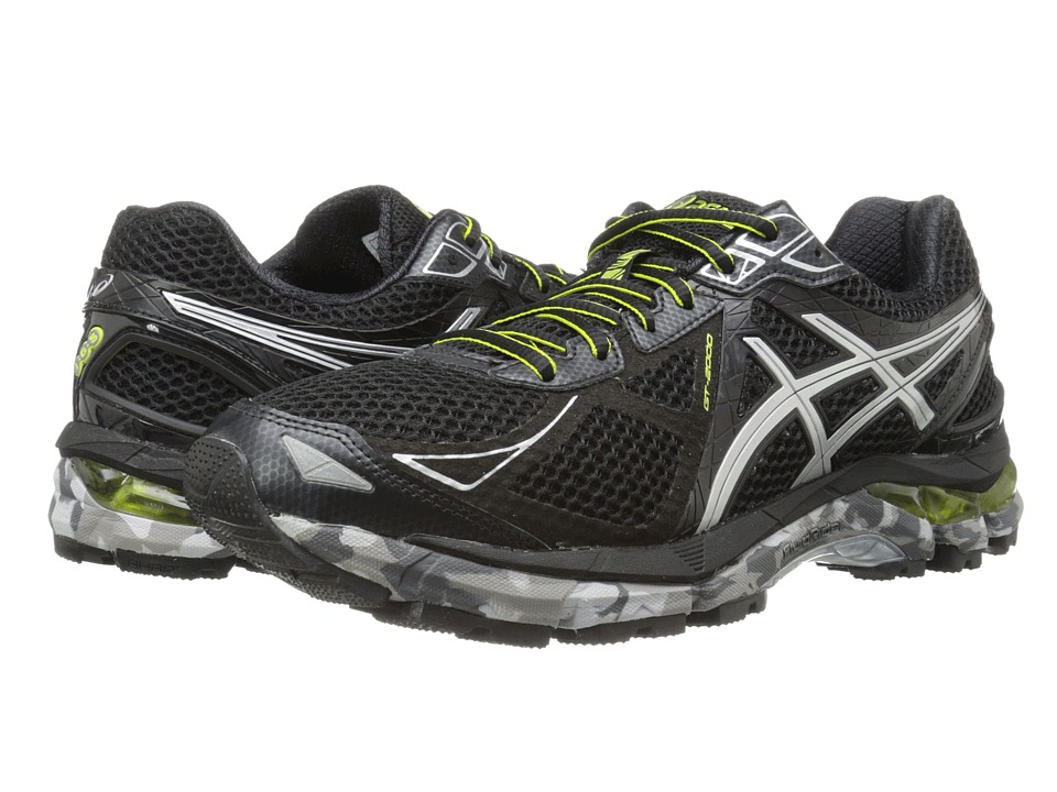 ASICS - GT-2000 3 Trail (Black/Lightning/Lime) Men's Running Shoes