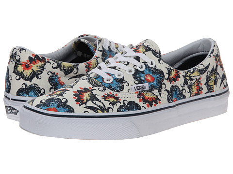 Vans - Era ((Vintage Floral) Classic White/Dress Blues) Skate Shoes