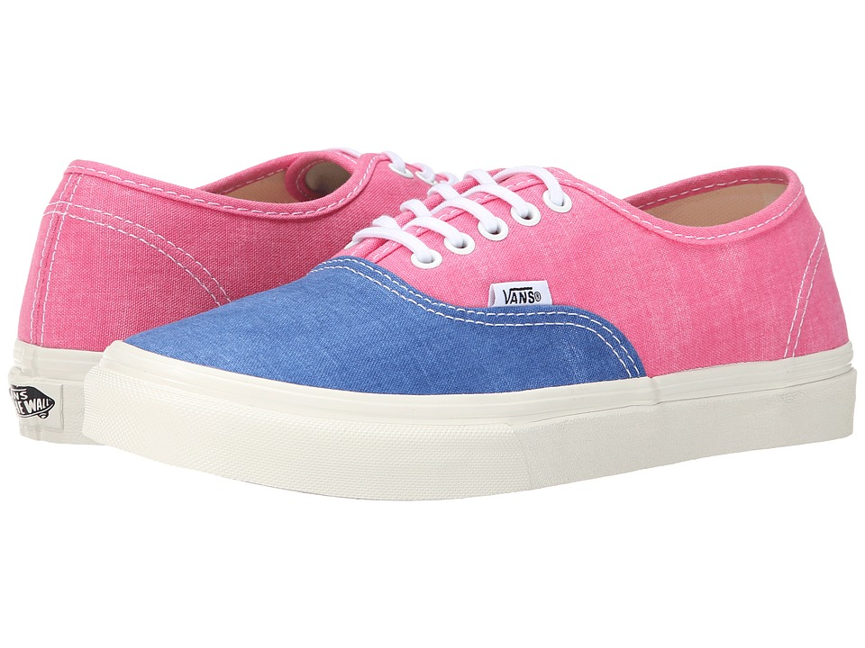 Vans - Authentic Slim ((Washed 2 Tone) Azalea Pink) Skate Shoes