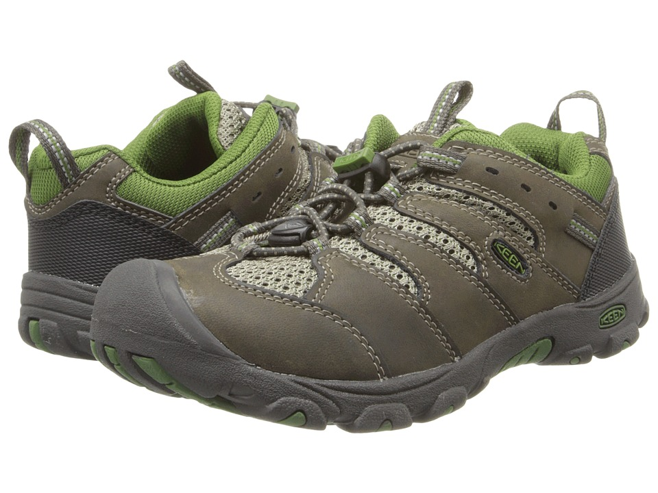 Keen Kids - Koven Low (Little Kid/Big Kid) (Black Olive/Garden Green) Kid's Shoes