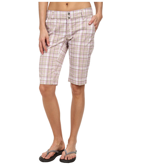 Columbia - Saturday Trail II Plaid Short (Fossil Plaid) Women's Shorts