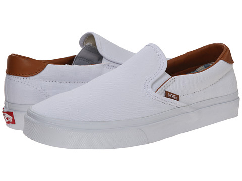 Vans - Slip-On 59 ((Washed C&L) True White) Skate Shoes