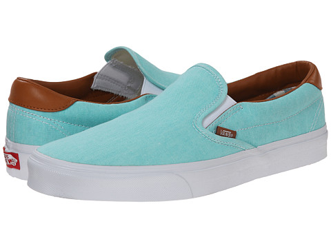 Vans - Slip-On 59 ((Washed C&L) Aruba Blue) Skate Shoes