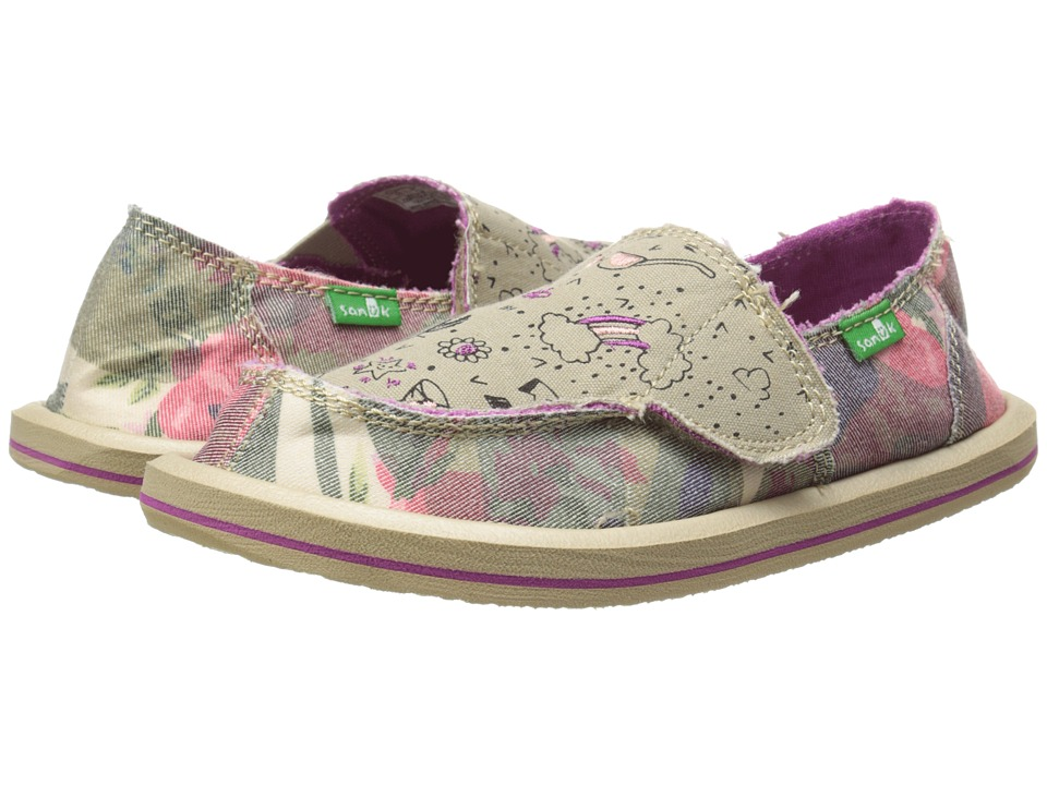 Sanuk Kids - Scribble II (Toddler/Little Kid) (Camo Floral) Girls Shoes