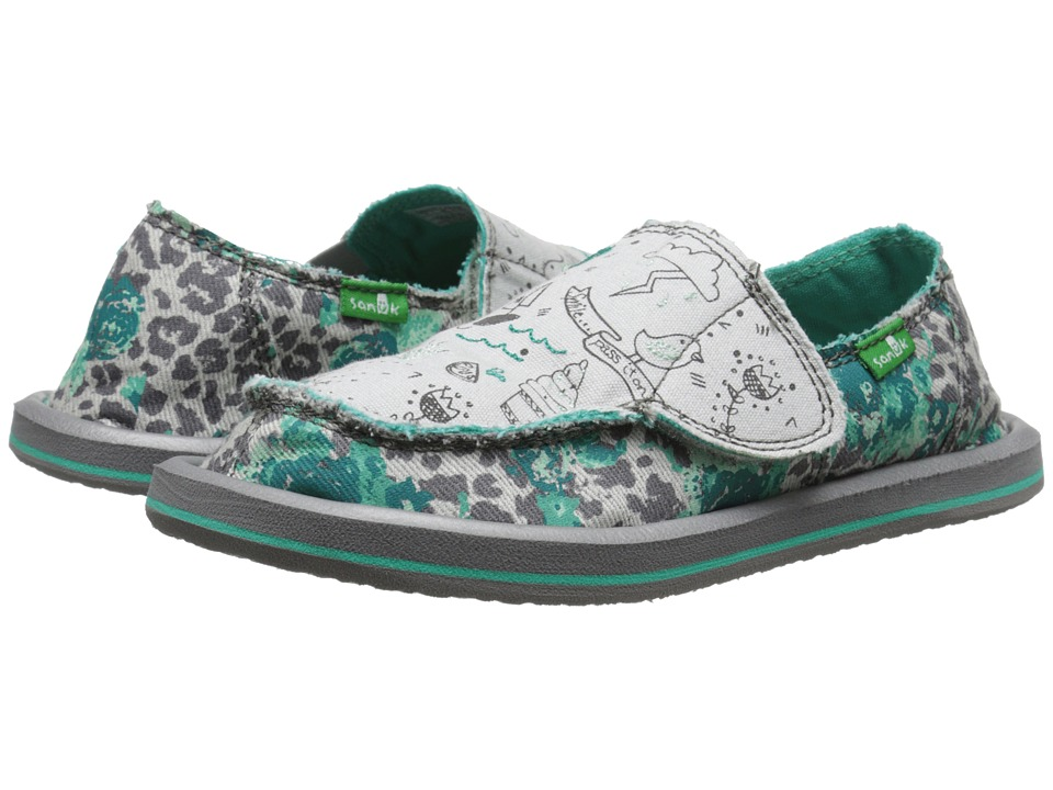 Sanuk Kids - Scribble II (Toddler/Little Kid) (Leopard Floral) Girls Shoes