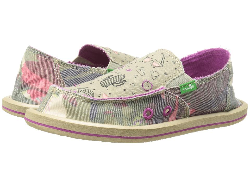 Sanuk Kids Scribble II (Little Kid/Big Kid) (Camo Floral) Girls Shoes