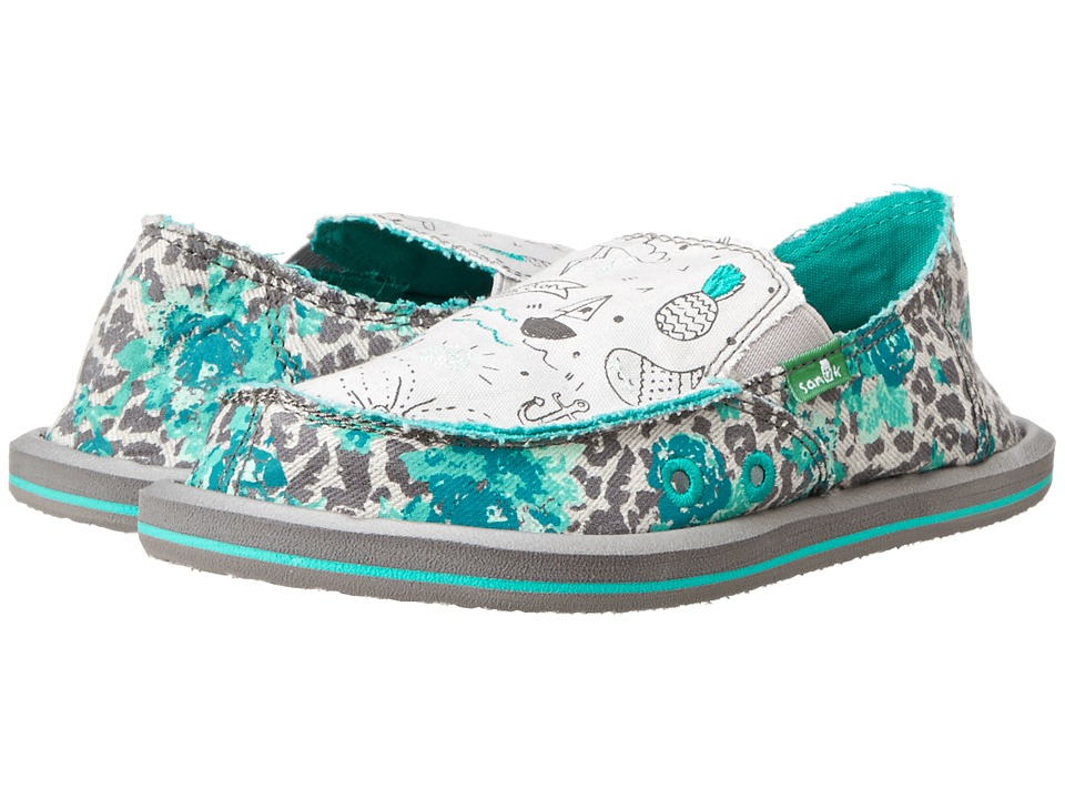 Sanuk Kids - Scribble II (Little Kid/Big Kid) (Leopard Floral) Girls Shoes