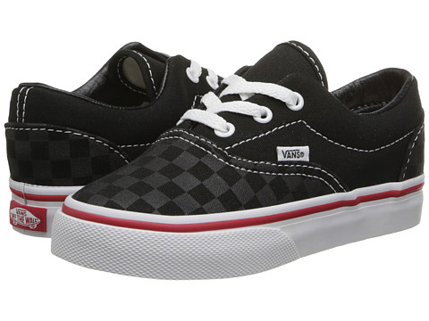 Vans Kids - Era (Toddler) ((Tonal Check) Black) Kids Shoes
