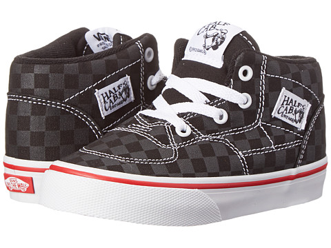 Vans Kids - Half Cab (Toddler) ((Tonal Check) Black) Boys Shoes