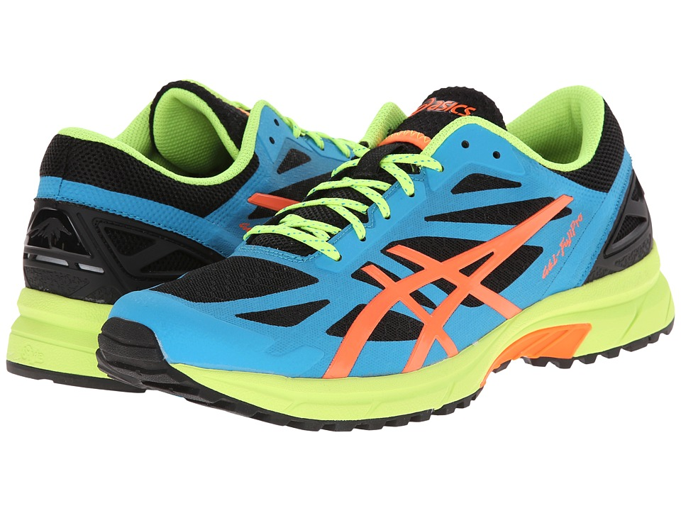 ASICS - GEL-FujiPro (Onyx/Flash Orange/Atomic Blue) Men's Running Shoes