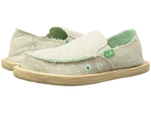 Sanuk Kids - Hot Dotty (Little Kid/Big Kid) (Natural/Mint Dots) Girls Shoes