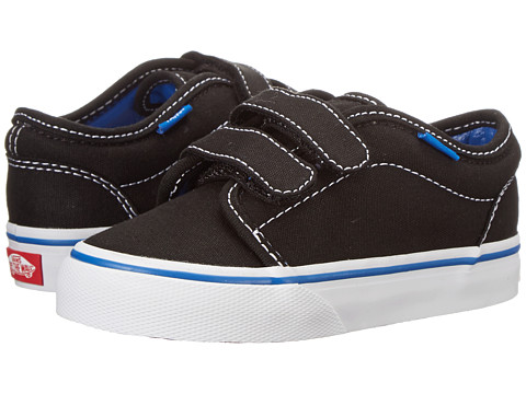 Vans Kids - 106 V (Toddler) ((Pop) Black/Princess Blue) Kids Shoes