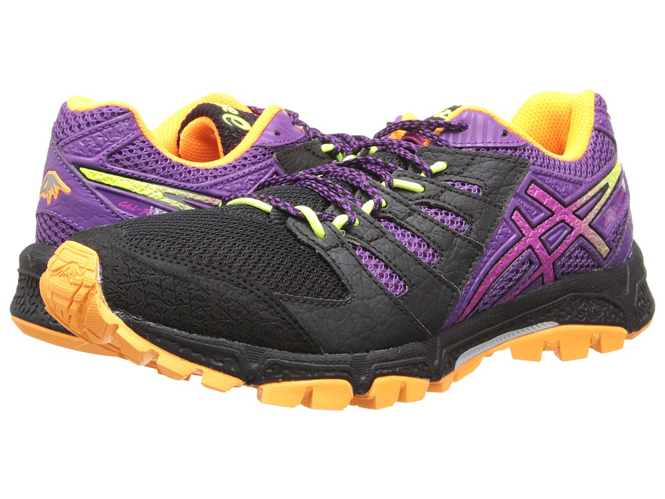 ASICS - Gel-FujiAttack 4 (Onyx/Hot Pink/Purple) Women's Running Shoes