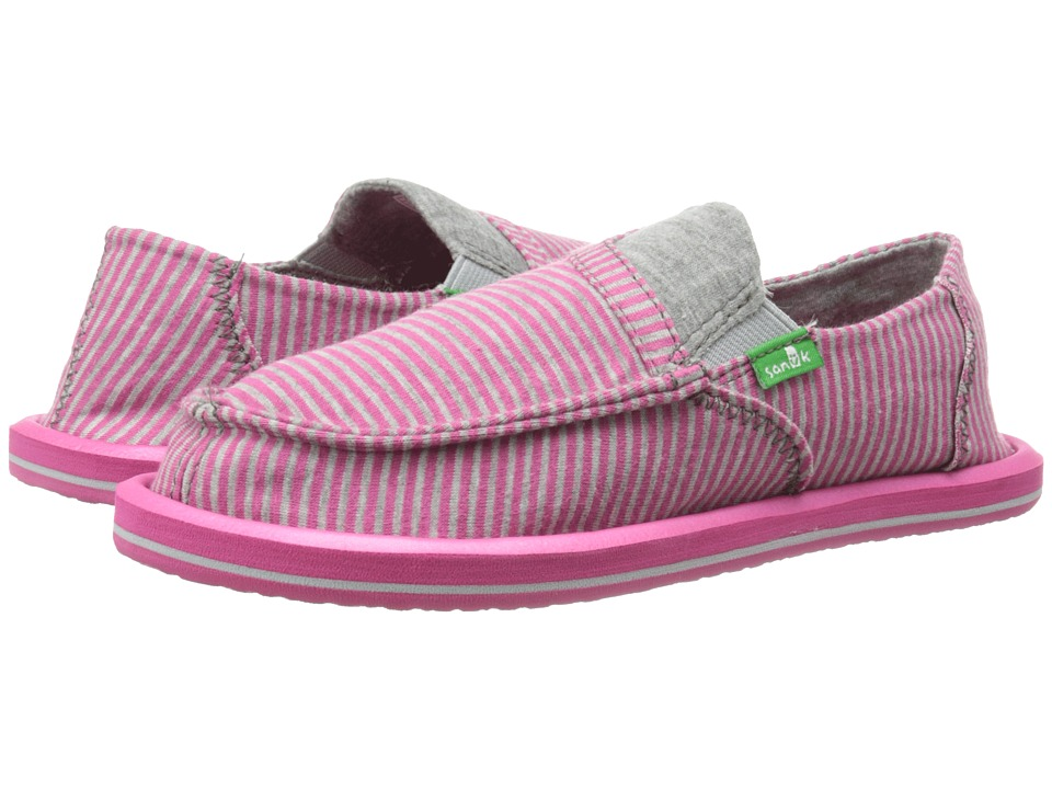 Sanuk Kids - Pick Pocket Tee (Little Kid/Big Kid) (Fuchsia Stripes) Girls Shoes