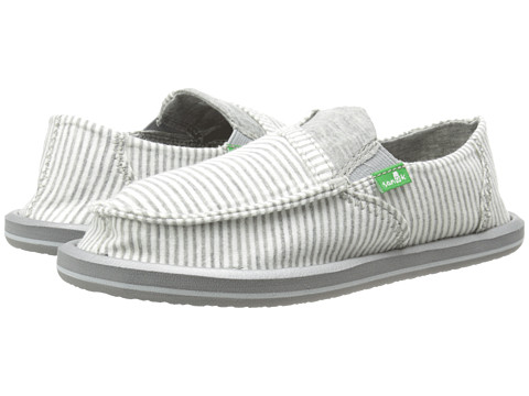 Sanuk Kids - Pick Pocket Tee (Little Kid/Big Kid) (White Stripes) Girls Shoes