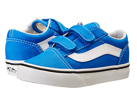 Vans Kids - Old Skool V (Toddler) (Princess Blue/True White) Boys Shoes