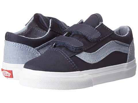 Vans Kids - Old Skool V (Toddler) ((T&C) Dress Blues/Captain's Blue) Boys Shoes