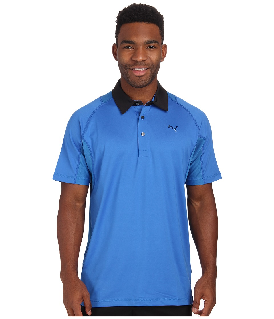 PUMA Golf - Titan Tour Polo (Strong Blue) Men's Short Sleeve Knit