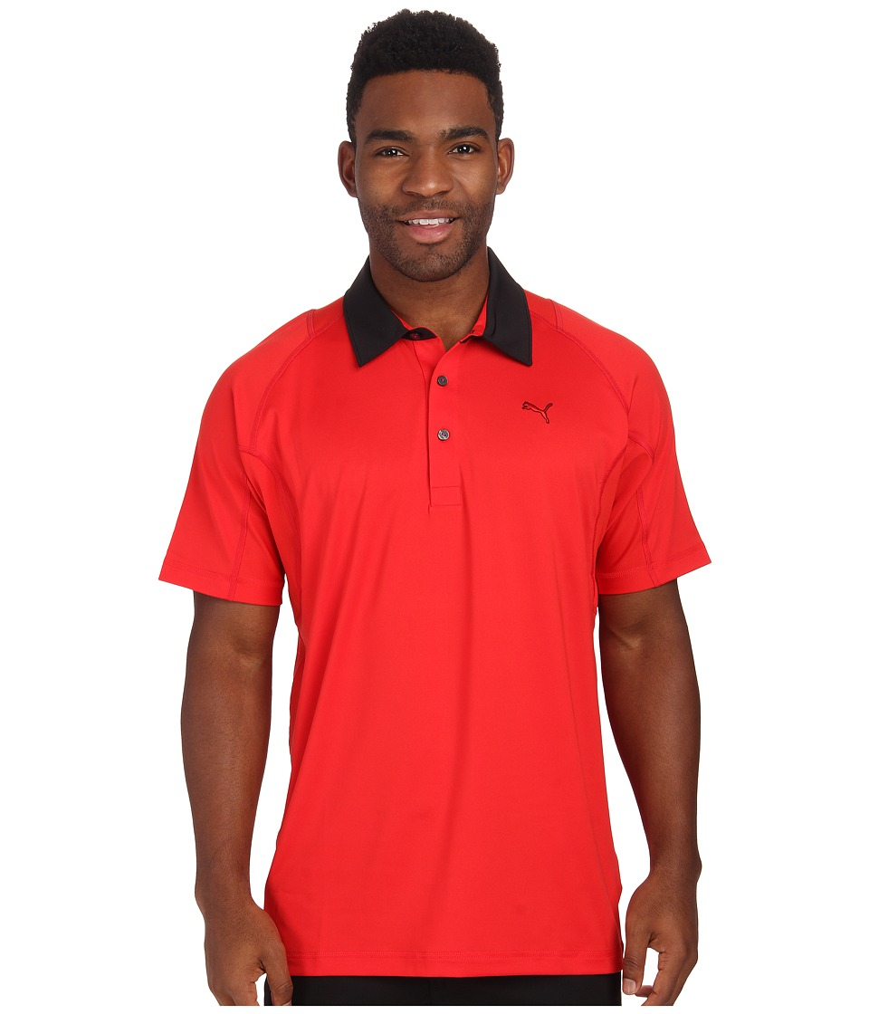 PUMA Golf - Titan Tour Polo (Puma Red) Men's Short Sleeve Knit