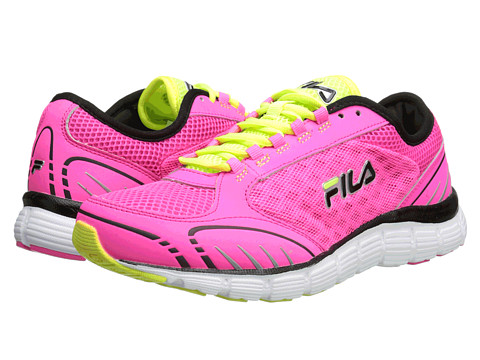 Fila - Memory Deluxe 4 (Knockout Pink/Safety Yellow/Black) Women's Shoes